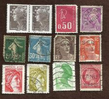 Buy France Marianne Type Set #3 Lot of 12 Stamps