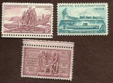 Buy Three US Unused Exploration/Artic Explorations/Lewis & Clark/Lousianna Purchase