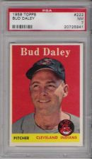 Buy 1958 Topps Baseball #222 Bud Daley Cleveland Indians PSA NM 7