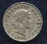 Buy World Coins: SWITZERLAND 5 RAPPEN,1930