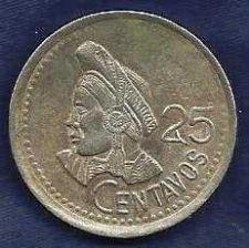 Buy Guatemala 25 Centavos, 1995 - Choka de Guatemala - Hard to find!