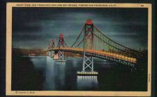 Buy Night View San Francisco Oakland Bay Bridge Toward San Francisco, California