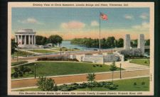 Buy Striking View of Clark Memorial Lincoln Bridge & Plaza, Vincennes, Ind.