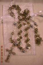 Buy HANDCRAFTED Light Gray Crystal Bicone Rosary ROS211LTGR