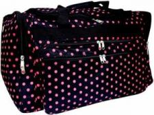 "Buy Pink Mini Polka Dots on Black 22"" Duffle Bag-NWT"