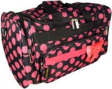 "Buy Black with Pink Polka Dots 20"" Duffle Bag-NWT"