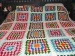 Buy Multi / White Queen Size Crochet Blanket