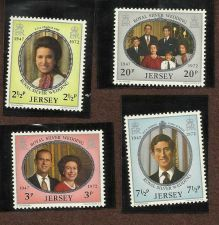 Buy JERSEY 1972 ROYAL WEDDING ANNIVERSARY SET MINT COMPLETE