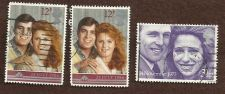 Buy Princess Anne and Prince Andrew Wedding Stamps - Set of 3 Used Stamps