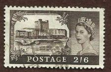Buy (GB131) 1955 Queen Elizabeth II 2/6D Brown SG536 - USED