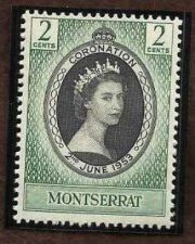 Buy 1953 Montserrat Coronation Queen Elizabeth