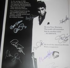 Buy SCARFACE HAND SIGNED 27X40 POSTER SIGNED BY AL PACINO x9