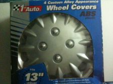 "Buy 13"" 1st Auto 4 Custom Alloy Appearance Wheel Covers (ABS Plastic)"