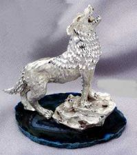 Buy HOWLING COYOTE (DIAMOND CUT PEWTER)