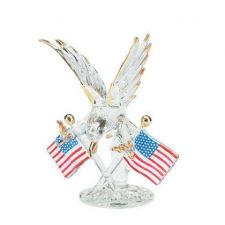 Buy GLASS EAGLE W/TWO FLAGS