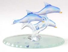 Buy FROSTED TRIO OF DOLPHINS