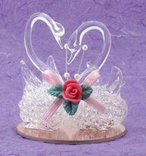 Buy SPUN GLASS SWANS