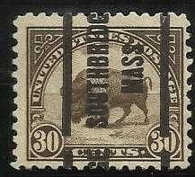 Buy 1923 30c American Buffalo, Olive Brown U.S. Stamp, Scott #569 OMAHA NEBRASKA