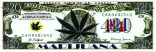 Buy Marijuana Money Bookmark