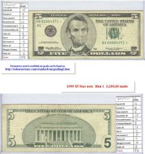 Buy 1999 $5 Circulated Star Note #00884371