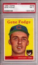 Buy 1958 Topps #449 Gene Fodge PSA 7