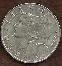 Buy Austria 1974 10 Schilling WOMAN OF WACHAU IMPERIAL
