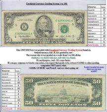 Buy 1993 $50 Federal Reserve Note #E02583301A 20 year old