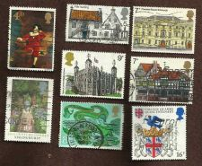 Buy Great Britain Architecture set of 4 plus bonus 4 stamps used