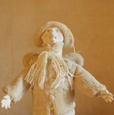 "Buy OOAK Polymer Clay Doll - Winter Angel ""Felix""."