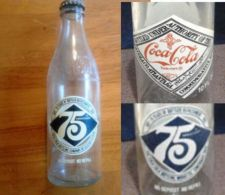 Buy Coca~Cola 75 Years of Refreshment 1901-1976 Commemorative Bottle with cap