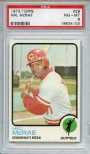 Buy 1973 Topps #28 Hal McRae Cincinnati Reds PSA 8 NM-MT