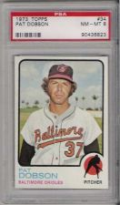 Buy 1973 Topps #34 Pat Dobson Baltimore Orioles PSA 8 NM-MT