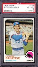 Buy 1973 Topps #139 Carmen Fanzone Chicago Cubs PSA 8 NM-MT