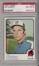 Buy 1973 Topps #124 Jim Hardin Atlanta Braves PSA 8 NM-MT