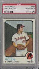 Buy 1973 Topps #267 Lloyd Allen California Angels PSA 8 NM-MT