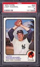 Buy 1973 Topps #46 Lindy McDaniel New York Yankees PSA 8 NM-MT
