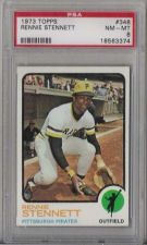 Buy 1973 Topps #348 Rennie Stennett Pittsburgh Pirates PSA NM-MT 8
