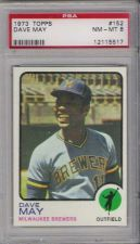Buy 1973 Topps #152 Dave May Milwaukee Brewers PSA 8 NM-MT