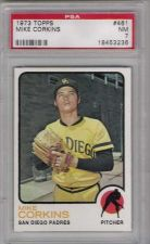Buy 1973 Topps #461 Mike Corkins San Diego Padres PSA NM 7