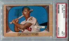 Buy 1955 Bowman #20 Al Smith Cleveland Indians PSA 7 NM