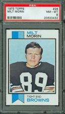 Buy 1973 Topps Football #26 Milt Morin Cleveland Browns PSA 8 NM-MT