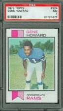 Buy 1973 Topps Football #324 Gene Howard PSA 7 NM Los Angeles Rams