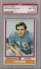 Buy 1974 Topps Football #301 Herman Weaver PSA 8 NM-MT Detroit Lions