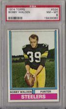 Buy 1974 Topps Football #324 Bobby Walden PSA 8 NM-MT Pittsburgh Steelers
