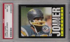 Buy 1985 Topps Football #377 Charlie Joiner PSA NM-MT 8 San Diego Chargers