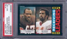 Buy 1985 Topps Football 193 Receiving Leaders PSA NM-MT 8 Art Monk Ozzie Newsome HOF