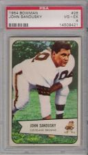 Buy 1954 Bowman Football #28 John Sandusky Cleveland Browns PSA 4 VG-EX