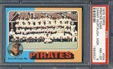 Buy 1975 Topps #304 Pittsburgh Pirates Team w/ Danny Murtaugh PSA NM-MT 8