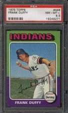 Buy 1975 Topps #448 Frank Duffy PSA NM-MT+ 8.5 Cleveland Indians
