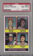 Buy 1976 Topps #597 Rookie Pitchers PSA NM-MT 8 Red Sox Aase Kucek LaCorte Pazik RC